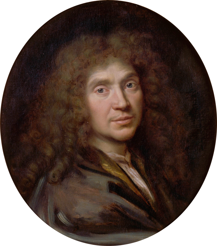 Портрет Мольера. Пьер Миньяр, 1658. Шантийи