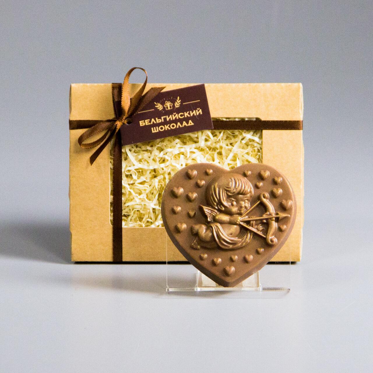 Шоколадная фигурка «Сердце с купидоном 2»