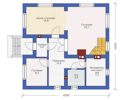 проекты домов из керамзитобетона на 150 кв м