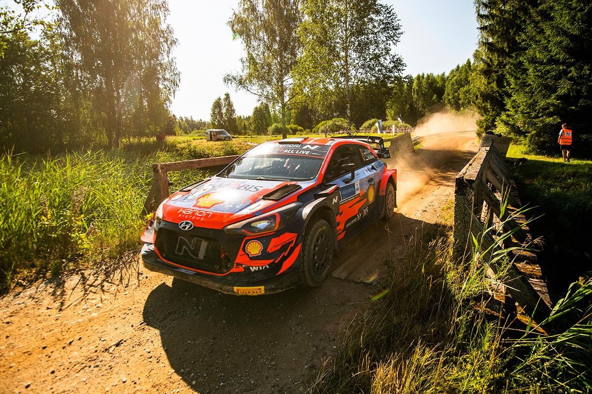 Отт Тянак и Мартин Ярвеоя, Hyundai i20 Coupe WRC, ралли Эстония 2021