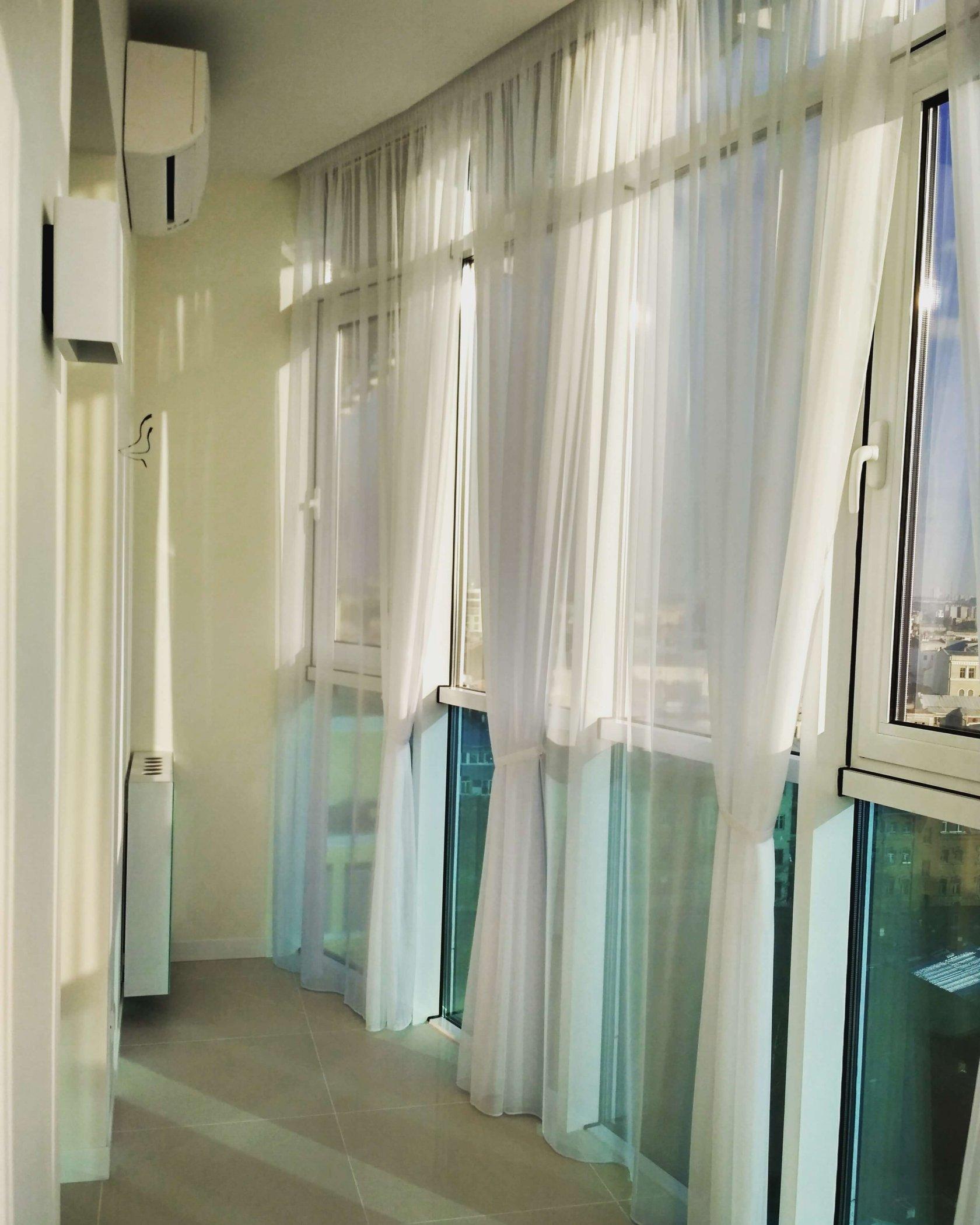 Тюль гардины на балкон