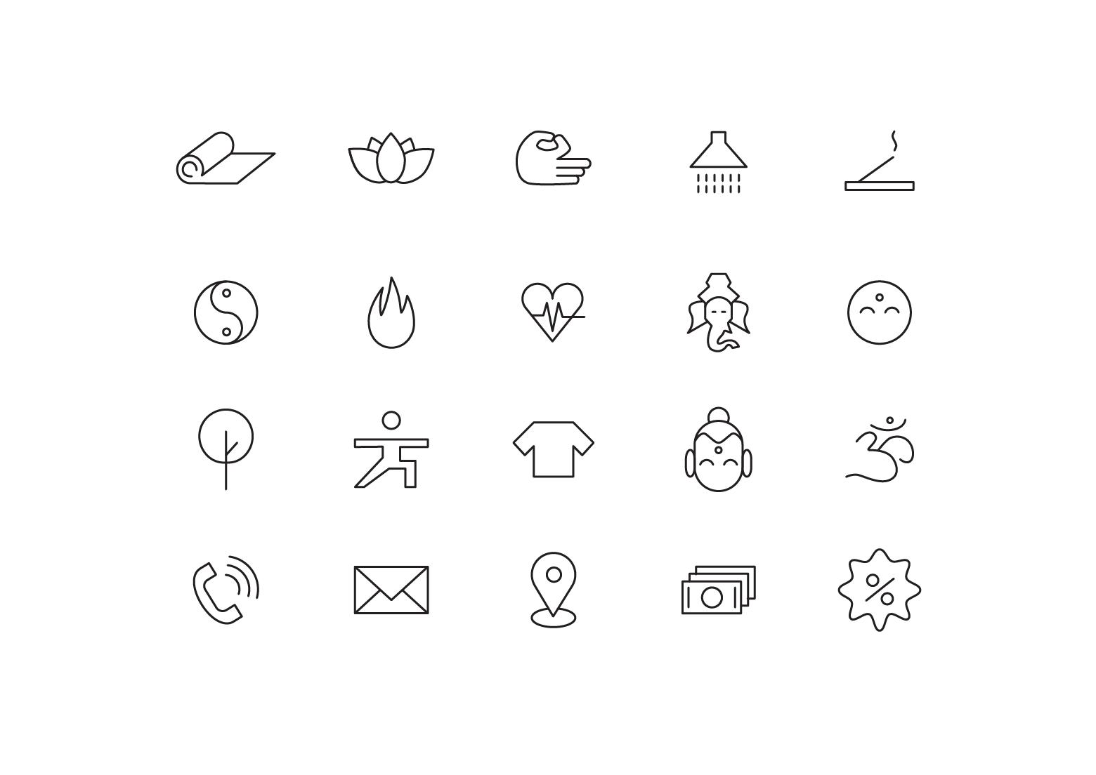 "Icons ""Yoga class"""