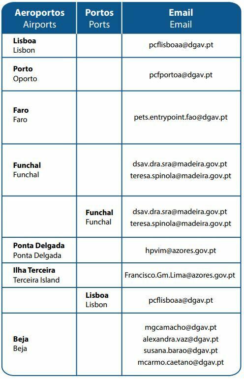 электронная почта аэропортов португалии