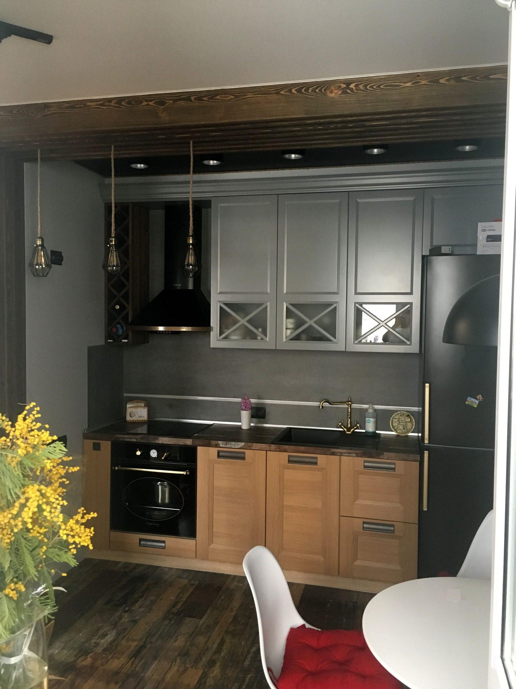 Фото дизайна гостиная вместе с кухней