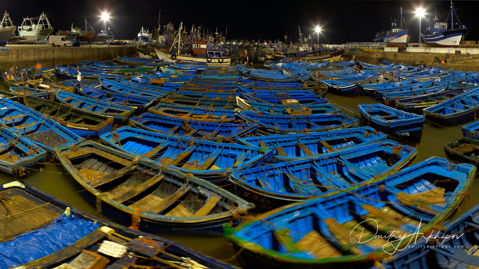 Essueira, Morocco, floating boats