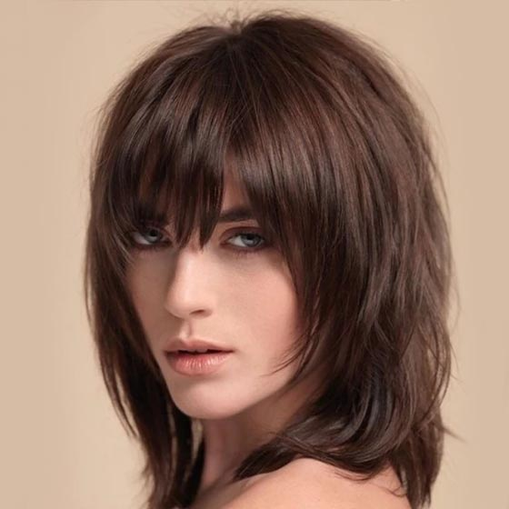 Тонкие волосы по плечи прическа