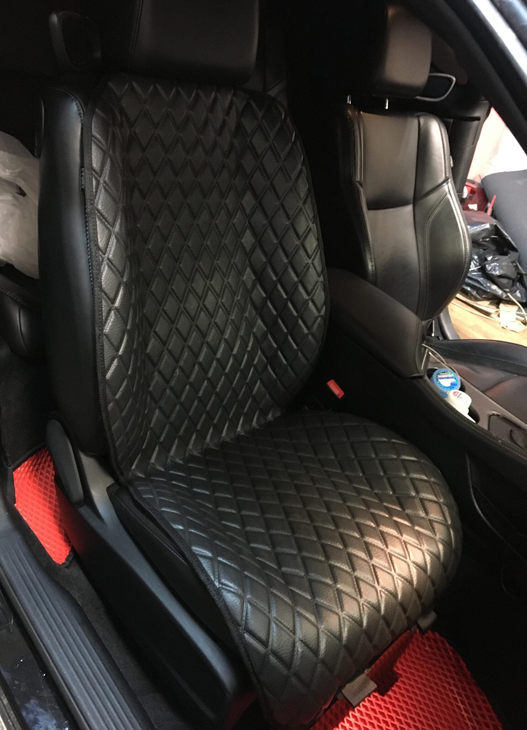 Защитные накидки на лицевую часть сиденья из ЕВА материала(текстура кожа).