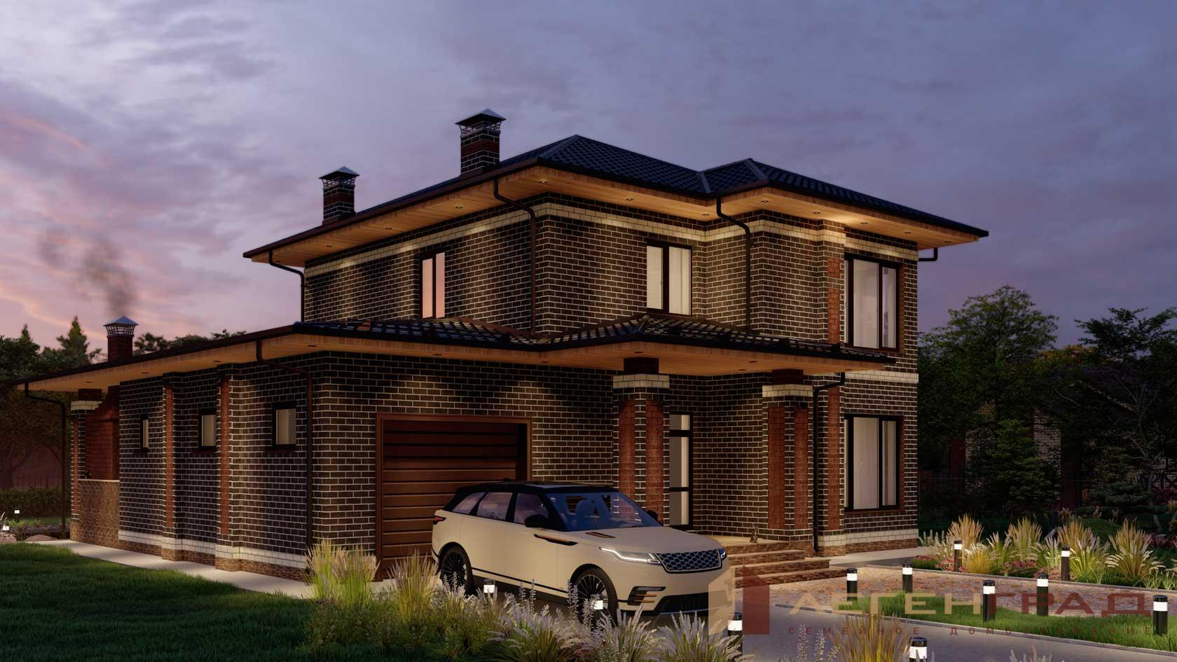 Красивые двухэтажные дома фото проекты из кирпича