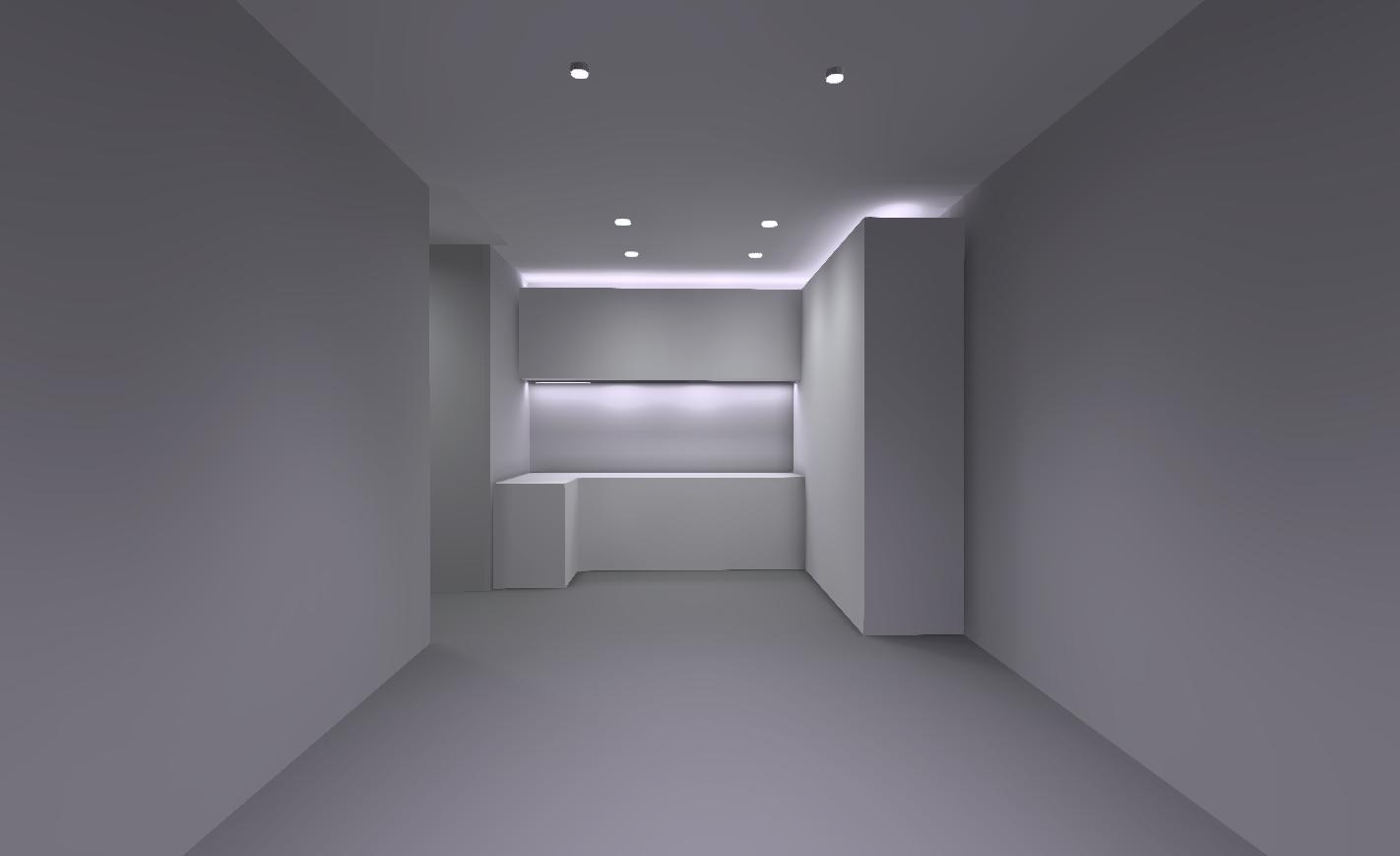 Распределение освещения в зоне