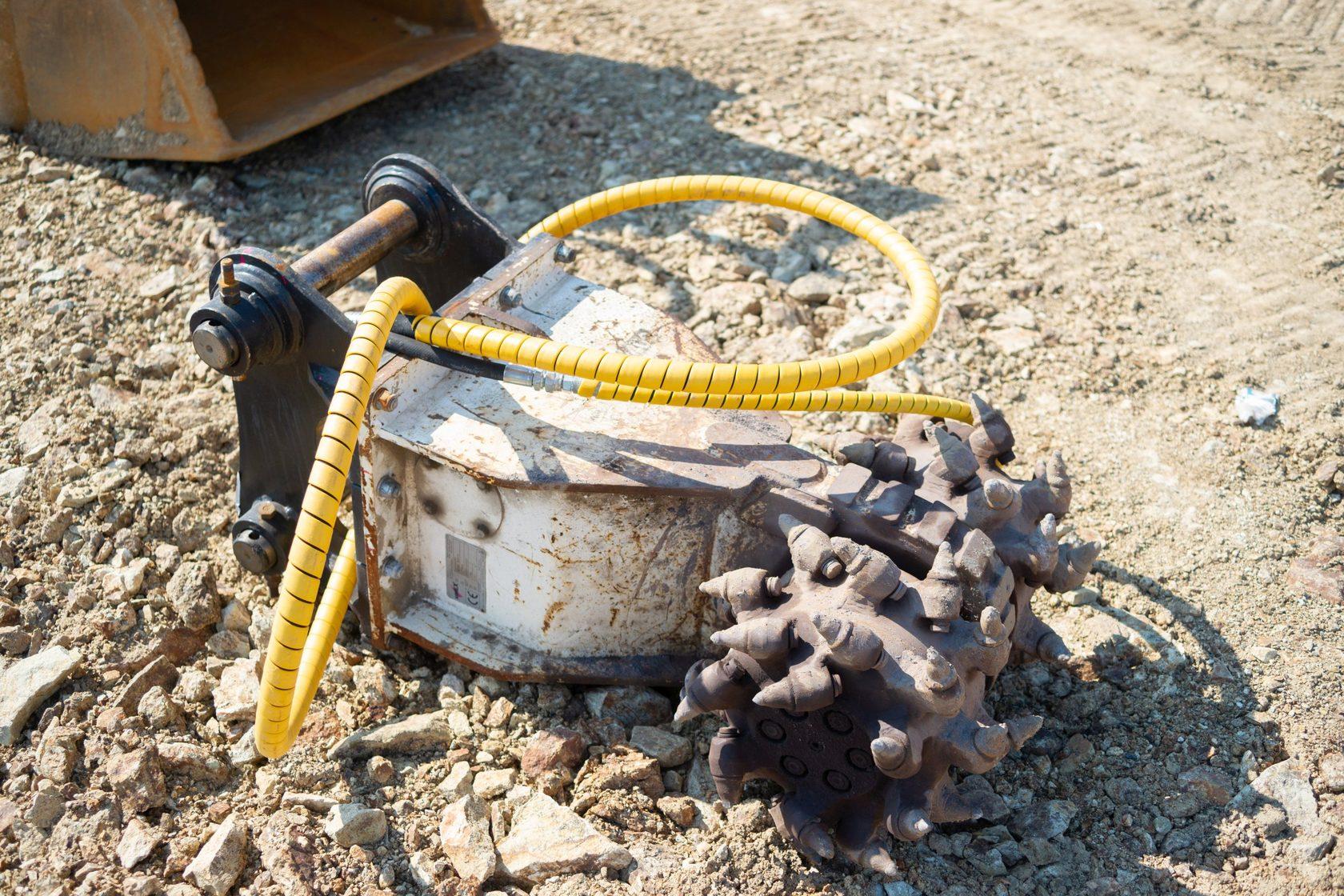 Роторная фреза SIMEX для разработки грунта