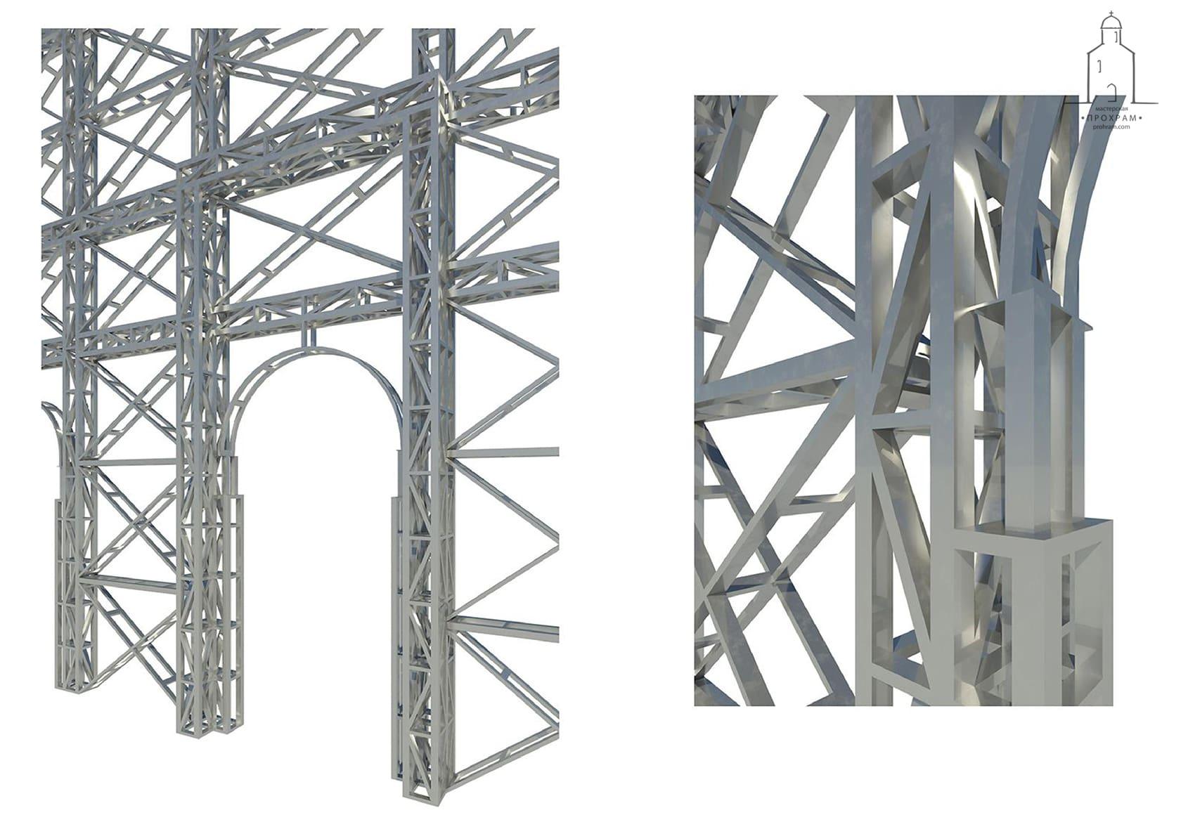 iconostasis project, orthodox architecture, sacred architecture,sketch design