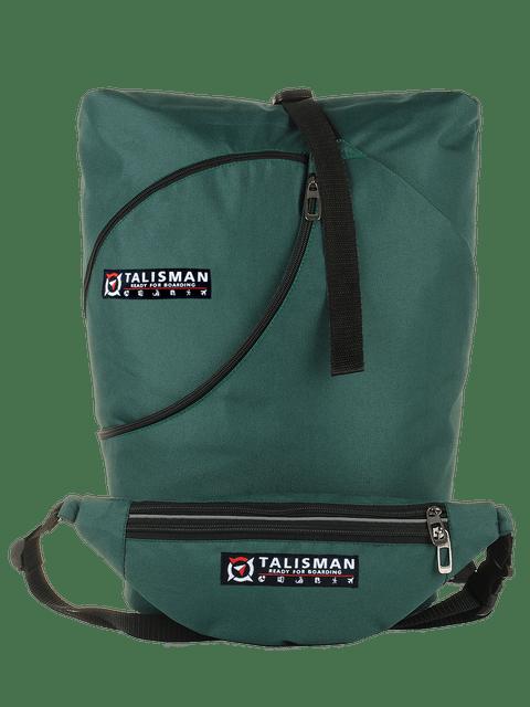 рюкзак, трансформер, купить, украина, производитель, ручная кладь, для перелетов, для туристов, сумка бананка, купить, цвет зеленый темный, изумруд