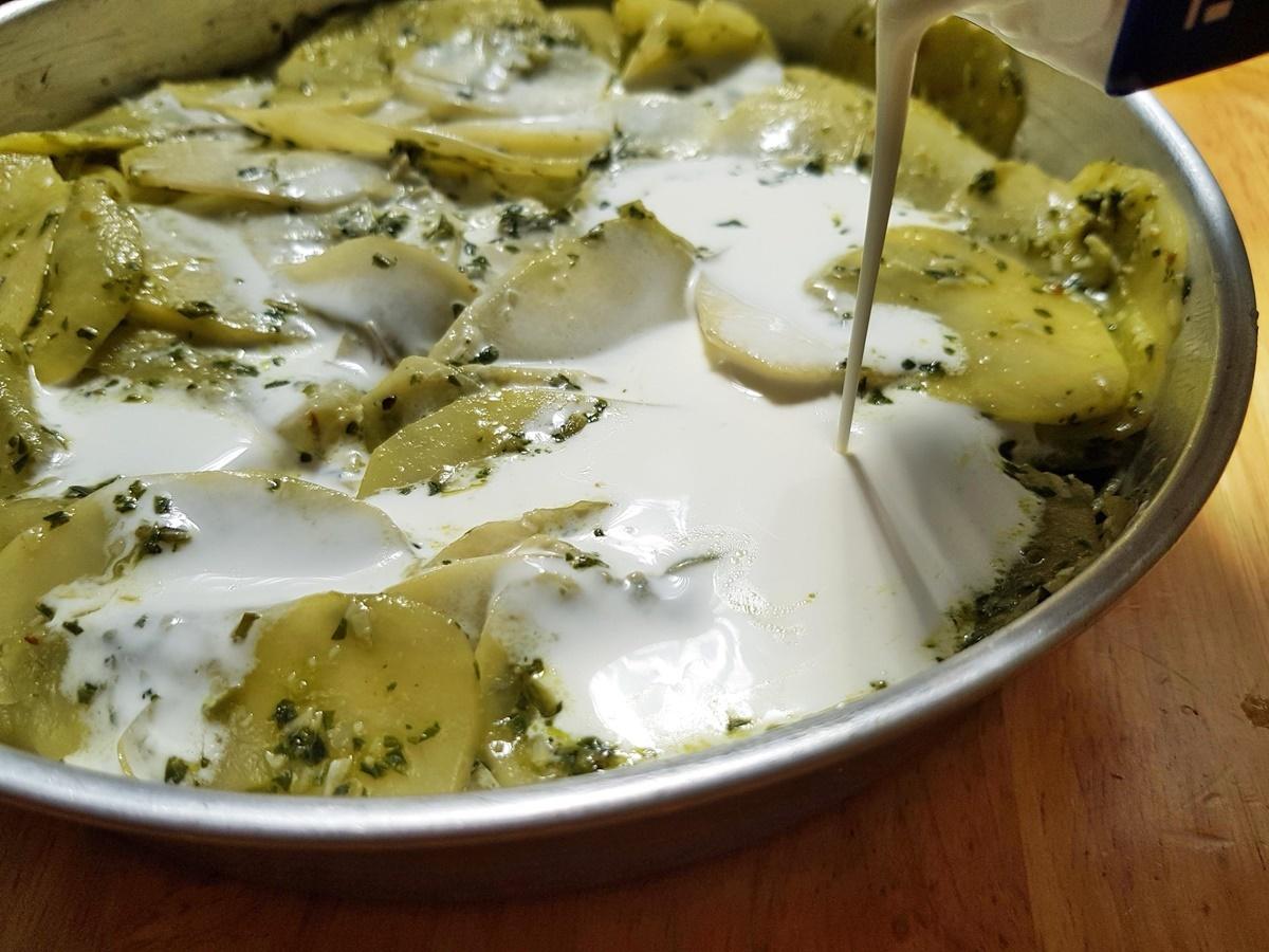 Картошка в духовке в сливках - Гратен. Блог Вкусный Израиль.