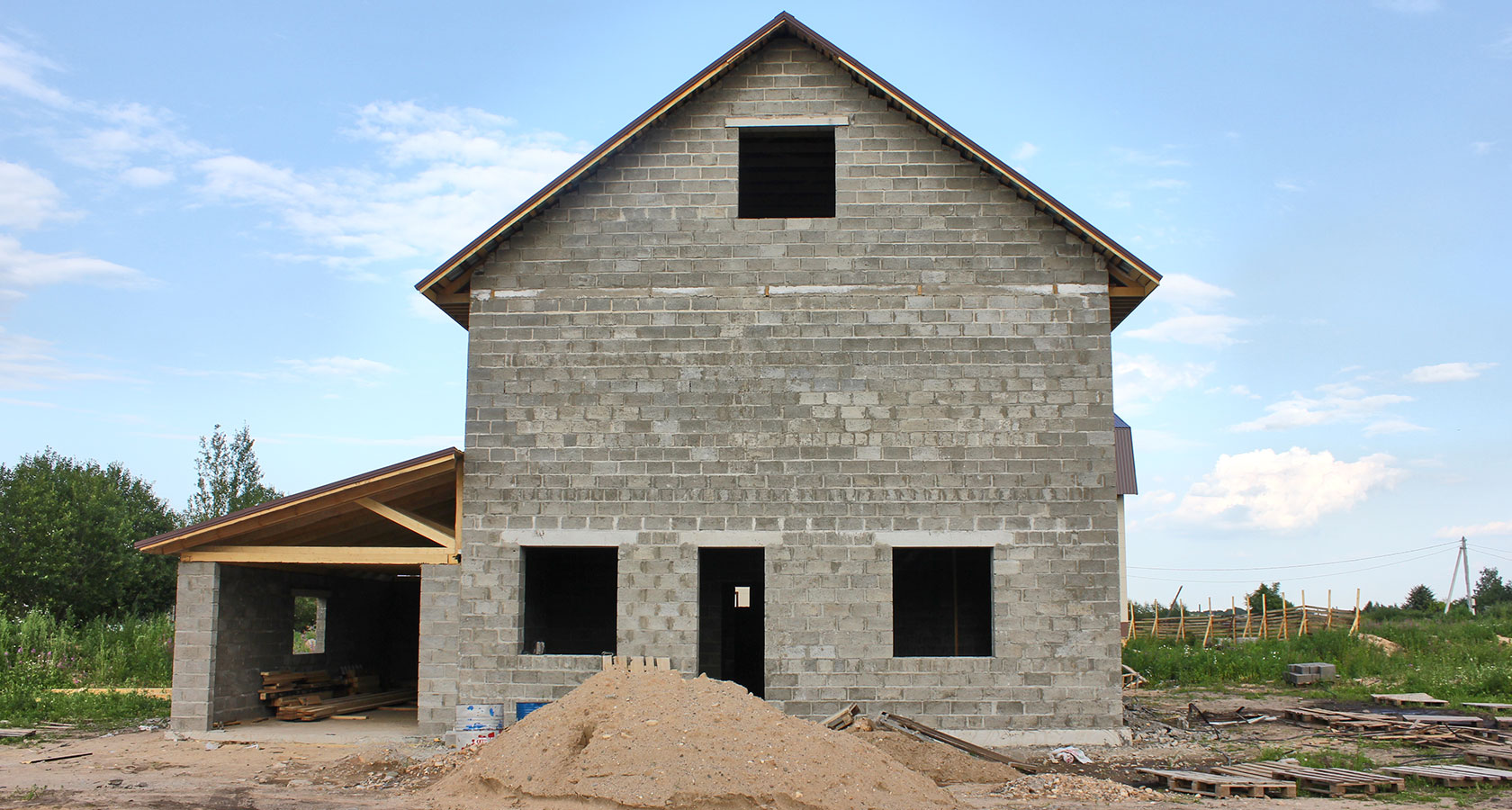 стоимость коробки дома из керамзитобетонных блоков