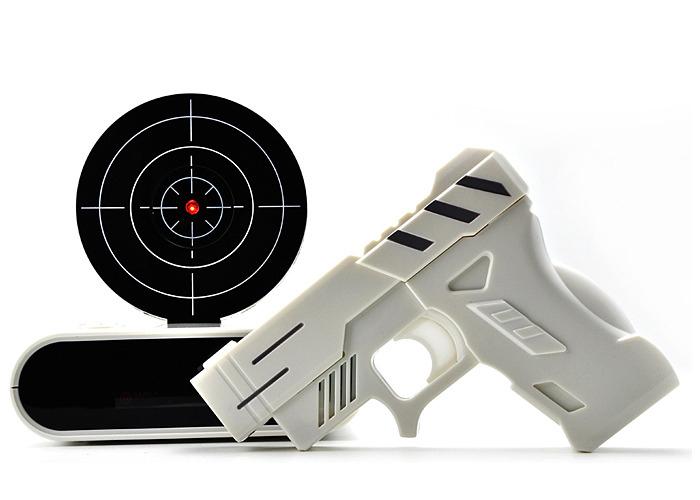 Купить часы-будильник Gun Alarm Clock с мишенью со скидкой 53%!