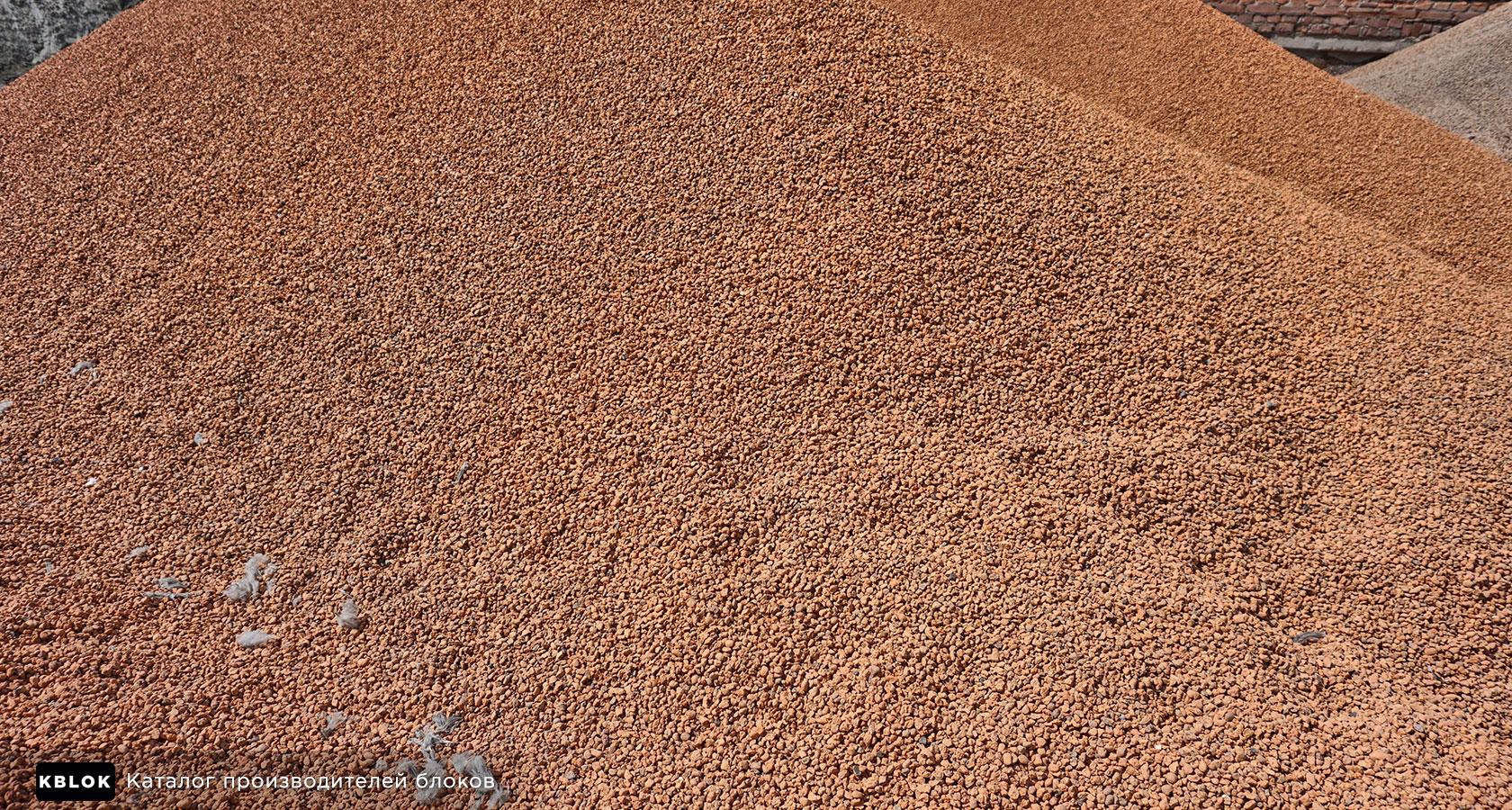 запасы керамзита на производстве блоков