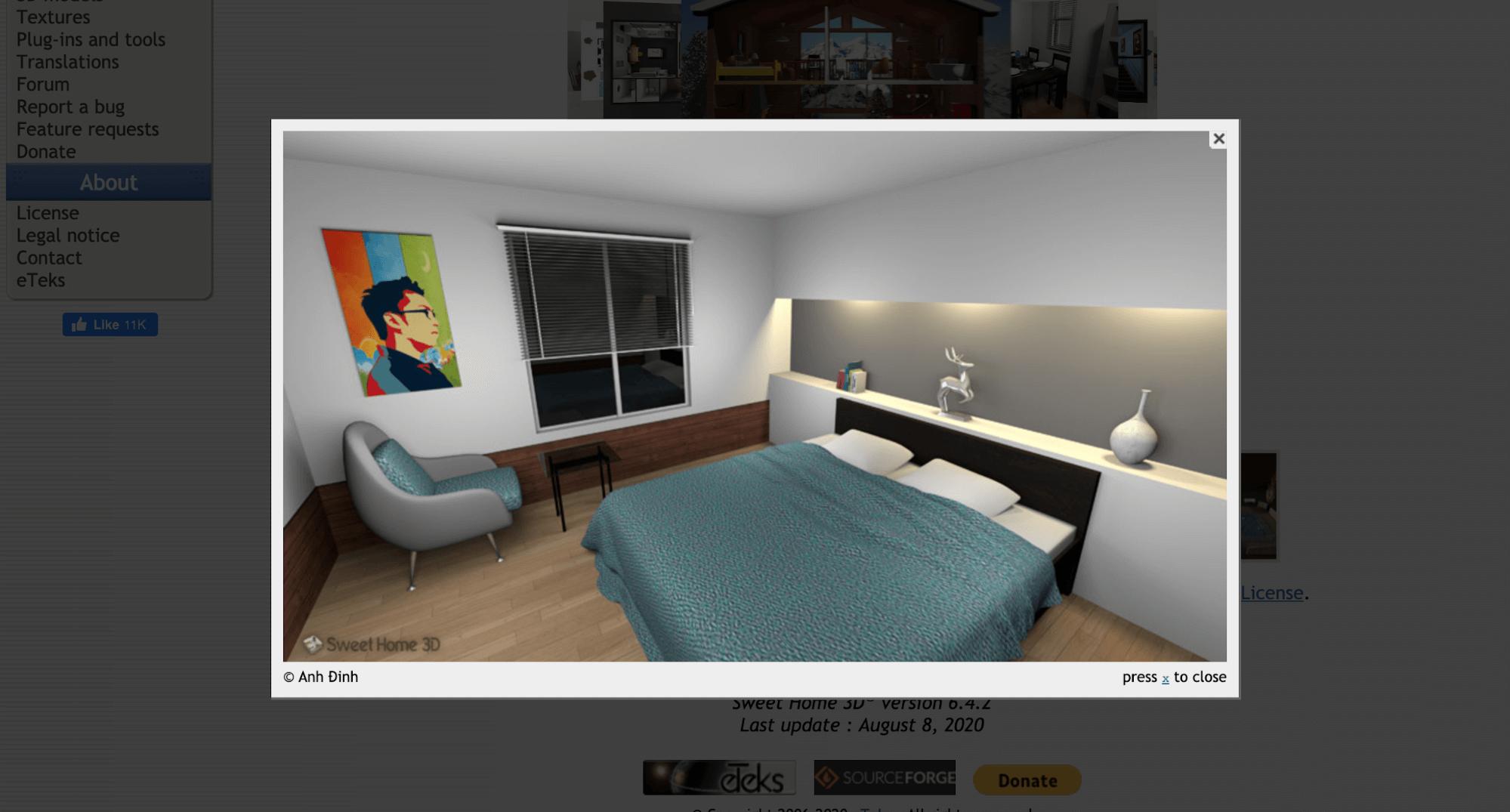 Сервис Sweet Home 3D