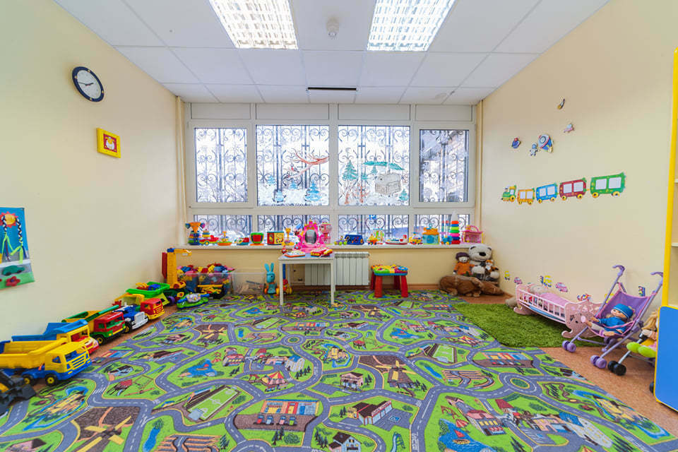 Комната для игр в частном детском саду