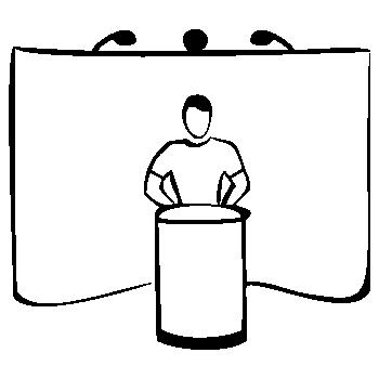 Установка светильников для Поп Ап (Pop Up) стенда