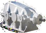 Коническо - цилиндрический двуступенчатый редуктор КЦ2-500, КЦ2-750, КЦ2-1000, КЦ2-1300