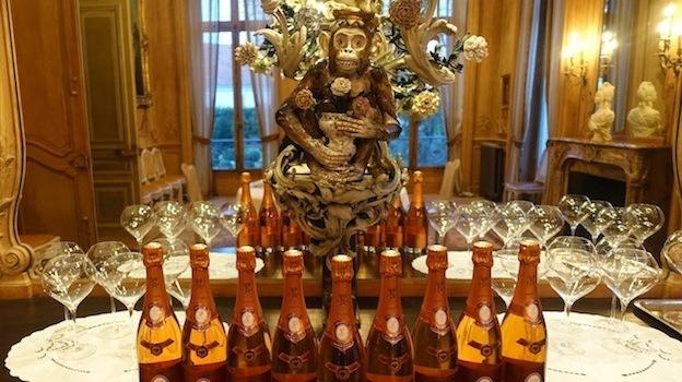 Roederer Cristal Rosés and the Monkey