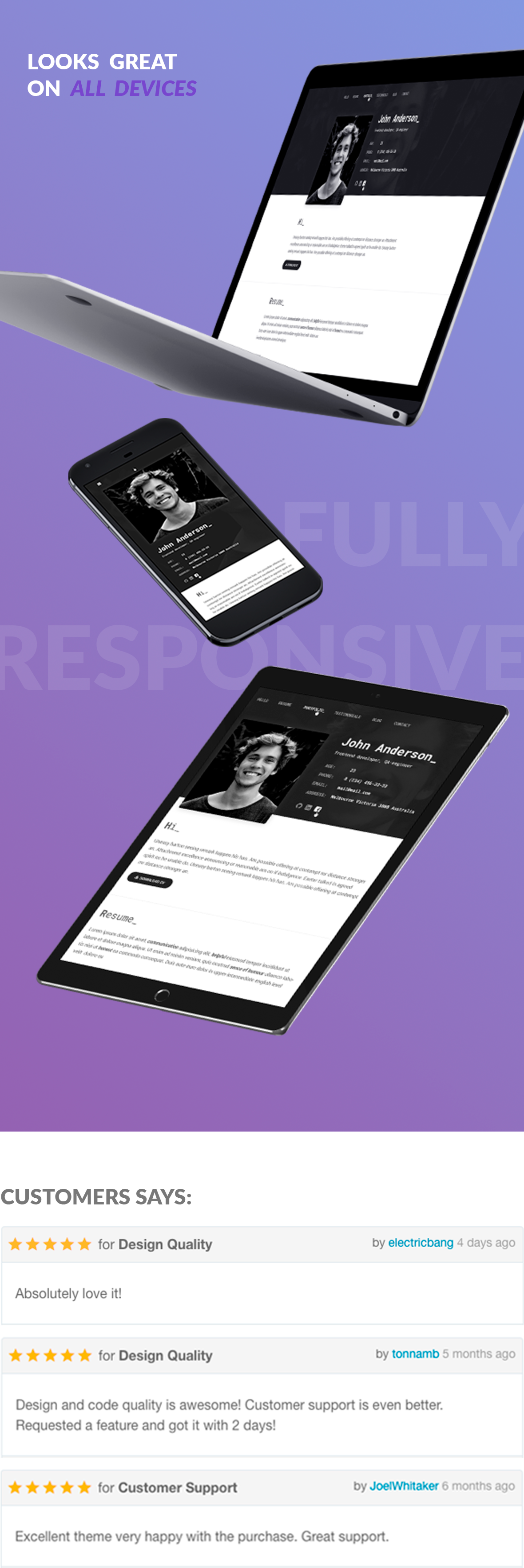 Great Update: SpirIT — Portfolio & Resume HTML Template for Developers, Programmers and Freelancers.
