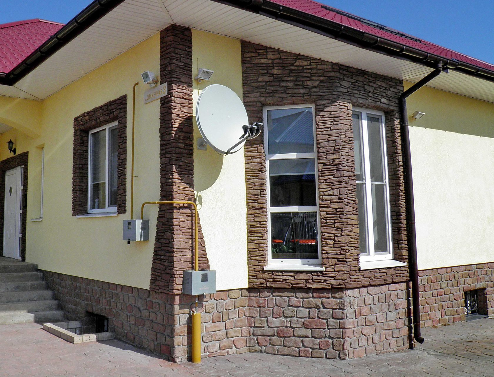 фасад дома штукатурка с декоративным камнем фото том, что кирилл
