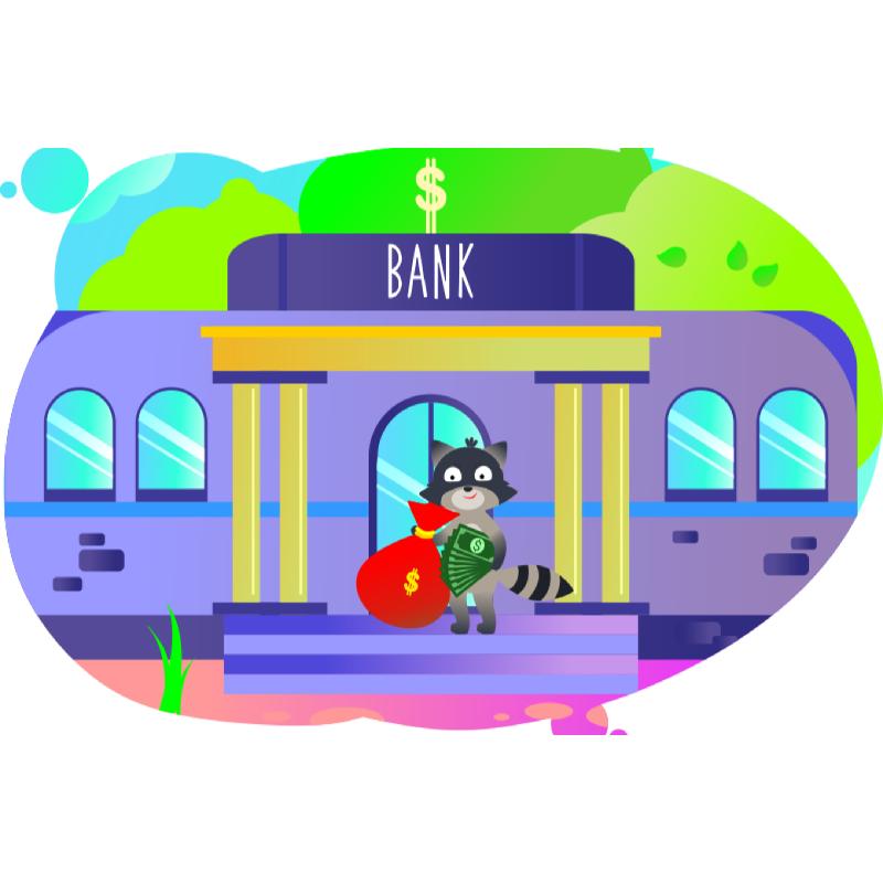 Енот преумножает свой капитал в банке