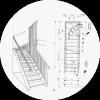 лестницы на второй в частный