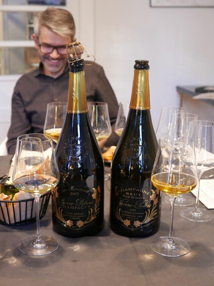 Champagne Pierre Peters Les Chetillons 2005 vs 1995