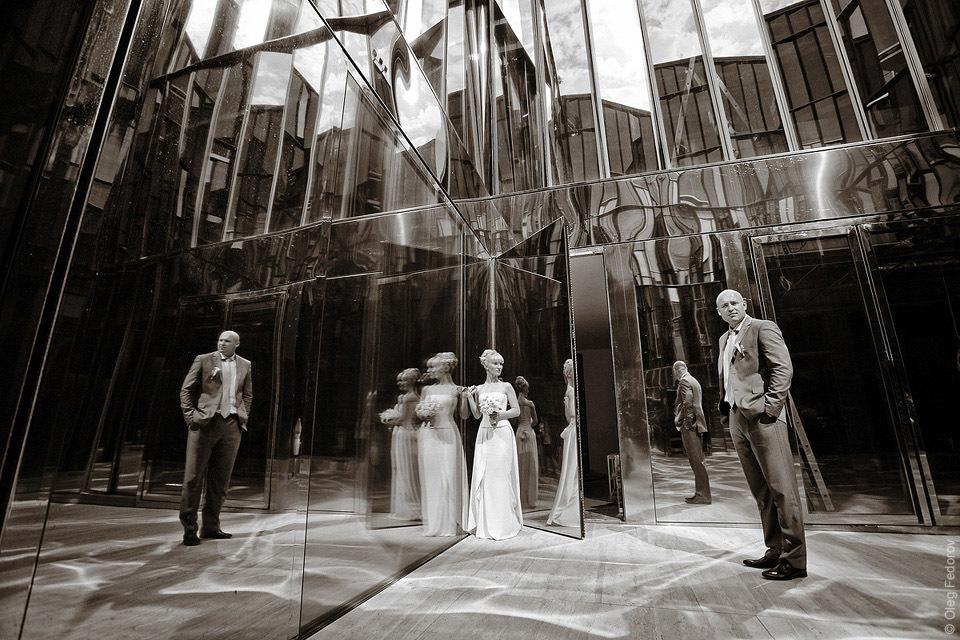 Фотосессия в зеркальном дворике