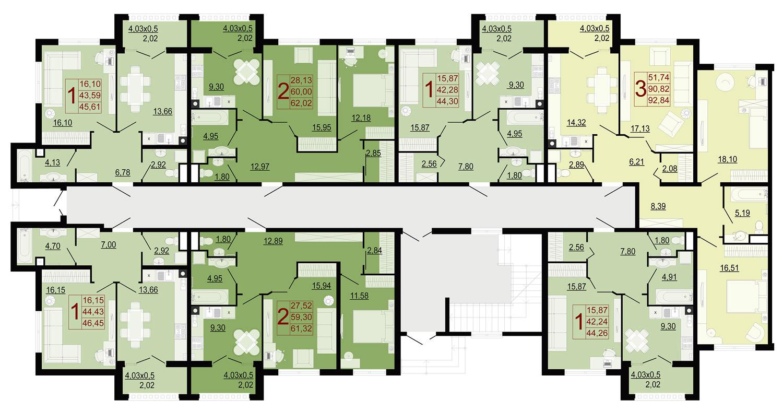 Планировки квартир ЖК Италия