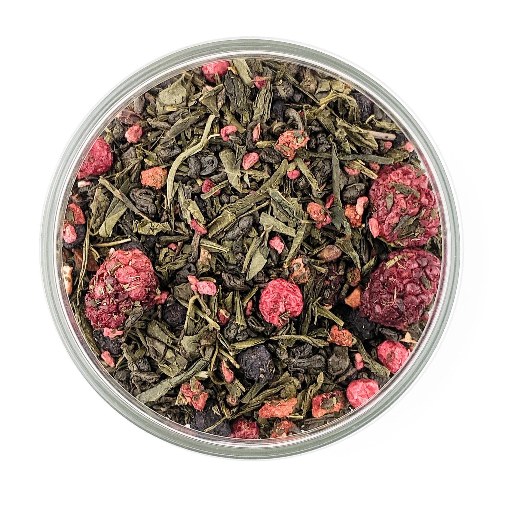 Купить зеленый чай с ягодами