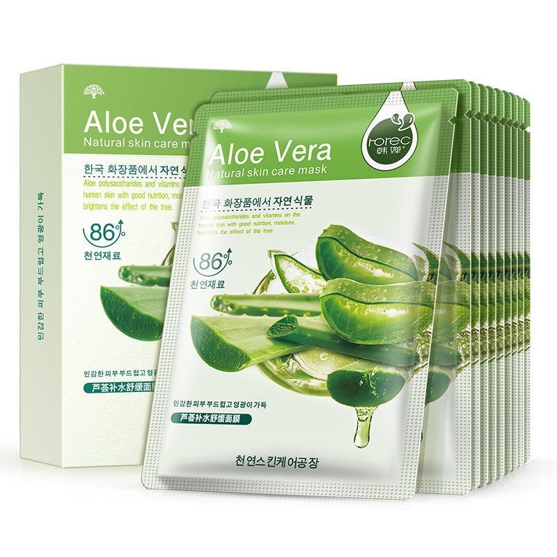 Тканевая маска для лица с алоэ вера. Rorec Aloe Vera Natural Skin Care Mask