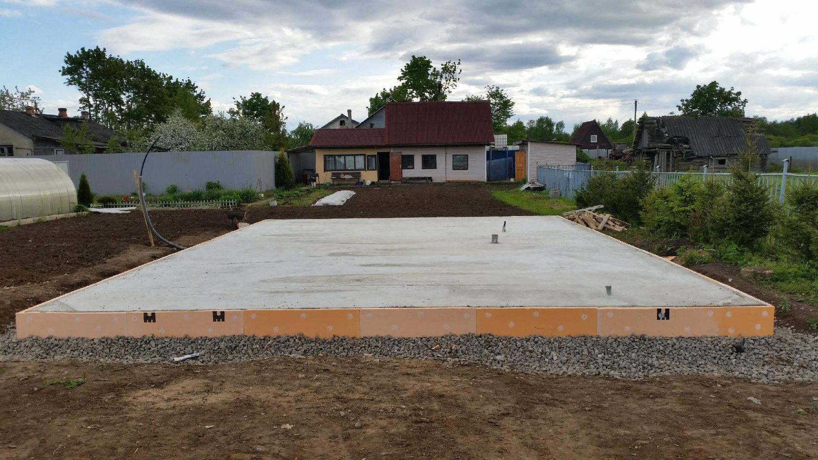 фундамент бетонная плита цена