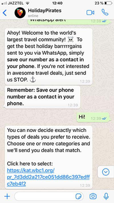 Пожалуй, одно из самых интересных применений WhatsApp-ботов в трэвеле