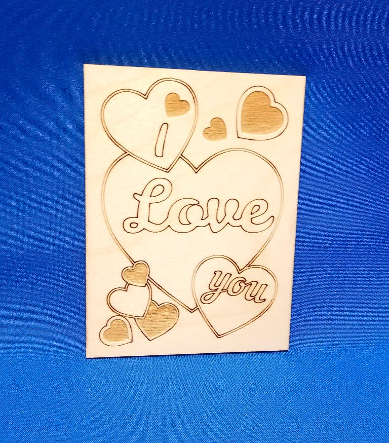 Месяц отношений, деревянные открытки костанай