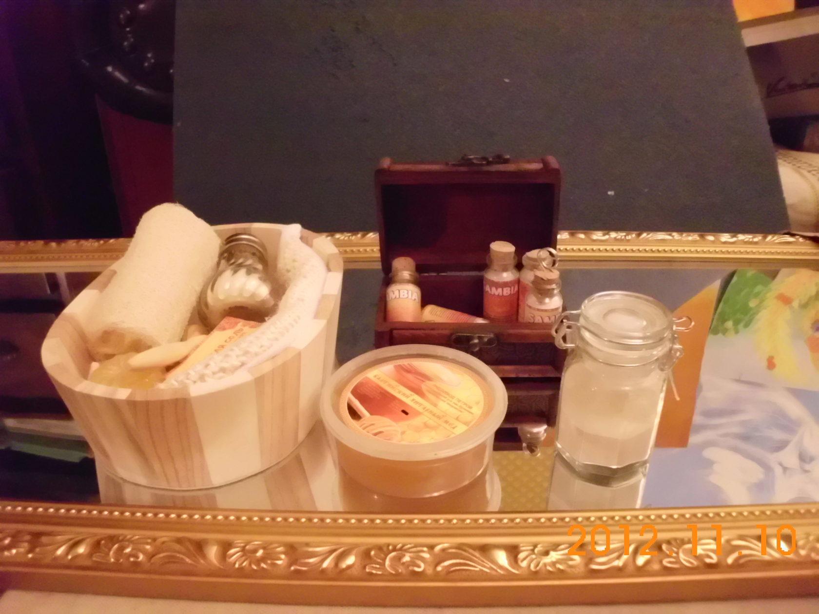 Янтарная косметика. Комплект для дома и бани. Фото.