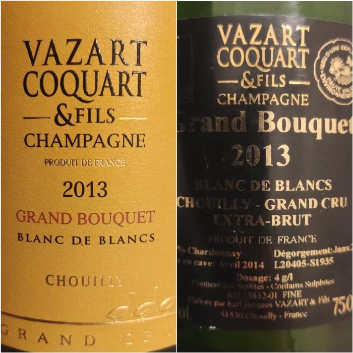 Champagne Vazart Coquart Grand Bouquet 2013