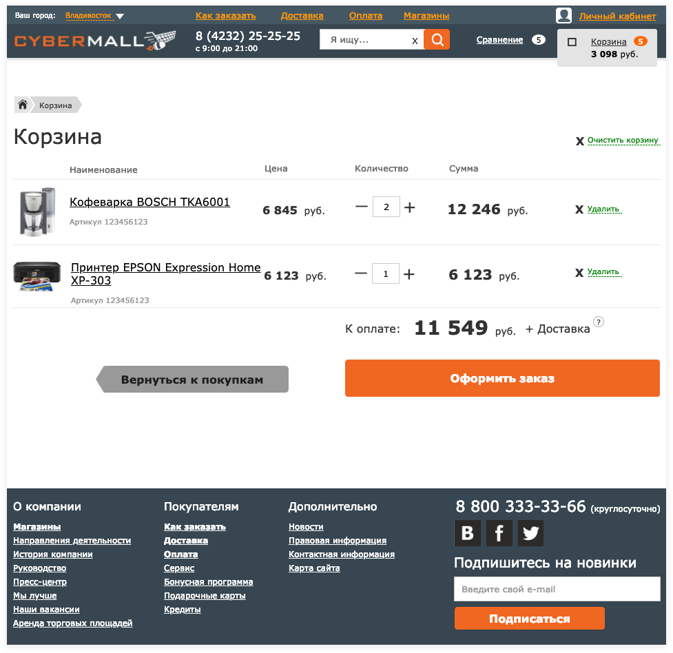 Корзина товаров | Sobakapav.ru