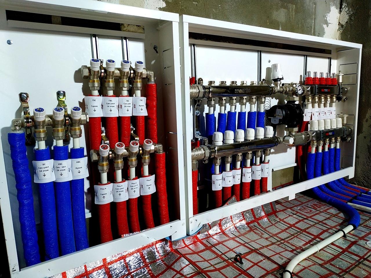 Распределительные коллектора водоснабжения, теплого пола и радиаторного отопления