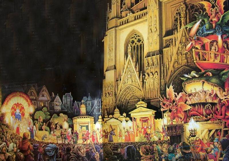 Архитектура средневековых церквей и соборов, благодаря прекрасной акустике, способствовала появлению полифонической музыки, многоголосного пения.