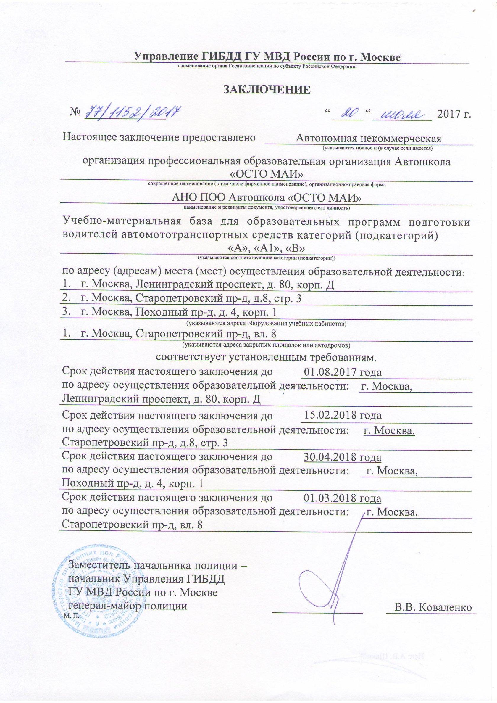 Медицинская справка для гаи м.планерная, м.сходненская Справка 002 о у Электрозаводская