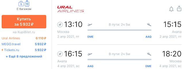 Москва - Анапа - Москва