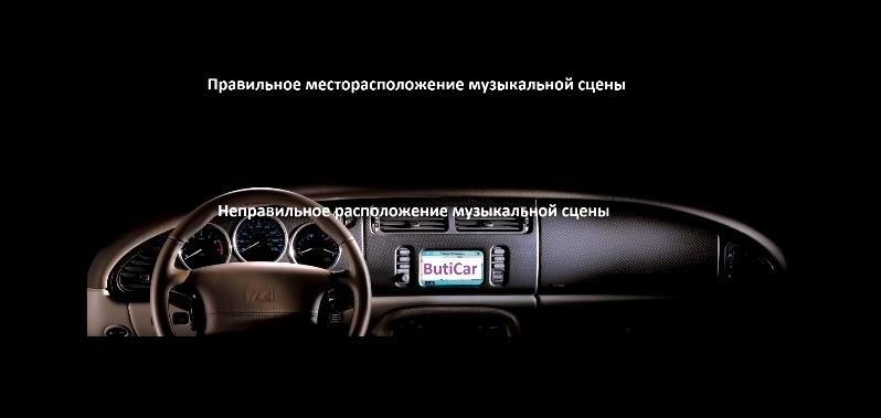 высота музыкальной сцены в автомобиле