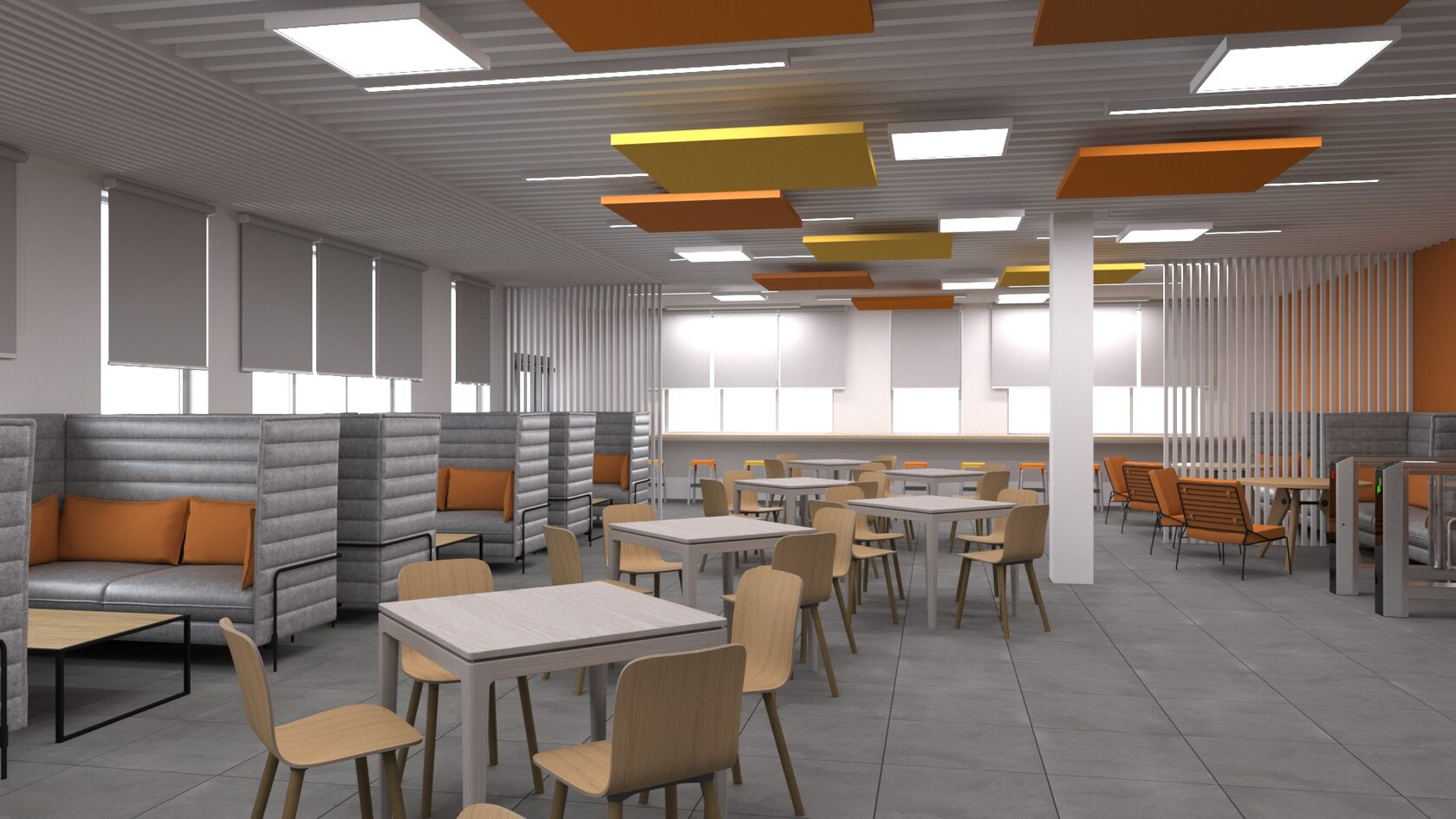 современные школьная столовая