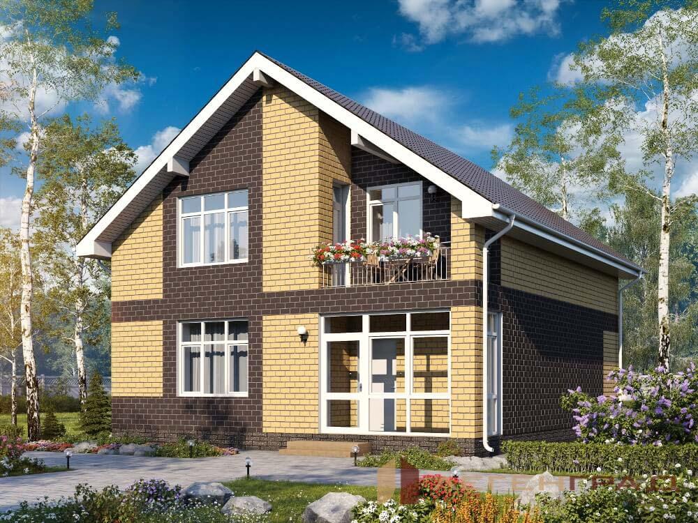 двухэтажный дом с мансардой фото и проекты это элемент