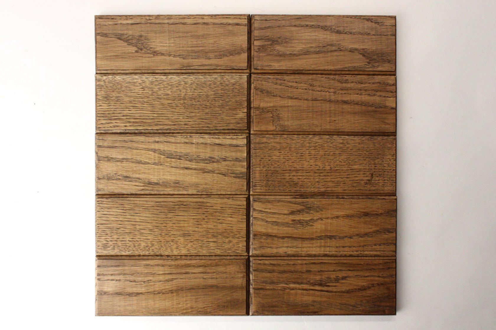 Деревянная плитка с фаской прямоугольной формы цвет орех