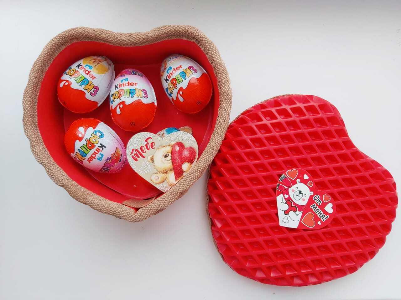 Подарочная упаковка в форме сердца из ЕВА материала