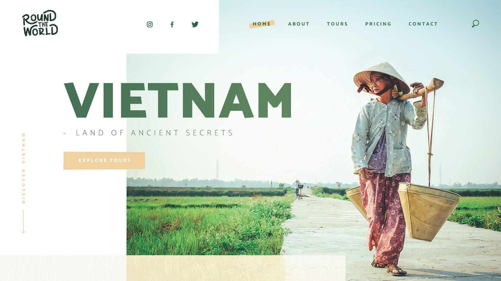 Website ontwerp Round The World